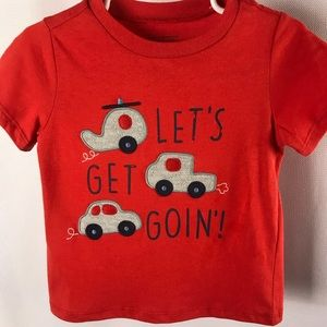 Red short sleeve Boys Tee 18 months  NWT